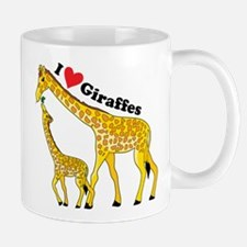I Love Giraffes Mug