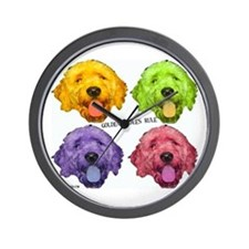 Goldendoodles Rule Wall Clock