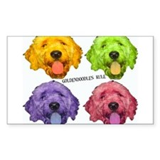 Goldendoodles Rule Rectangle Decal