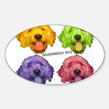 Goldendoodles Rule Oval Decal