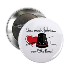 """Sew Much Fabric 2.25"""" Button"""