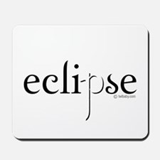 Eclipse Black and White by Twibaby Mousepad