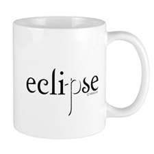 Eclipse Black and White by Twibaby Small Mugs
