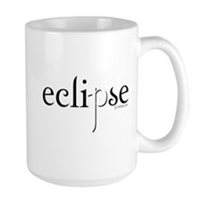 Eclipse Black and White by Twibaby Mug