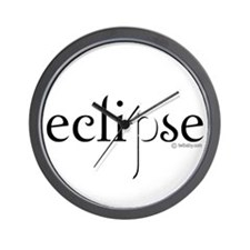Eclipse Black and White by Twibaby Wall Clock