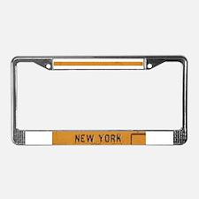 New York License Plate Frame