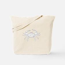 Blue Crab Art Tote Bag