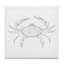 Blue Crab Art Tile Coaster