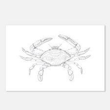 Blue Crab Art Postcards (Package of 8)