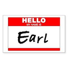 Earl Rectangle Decal