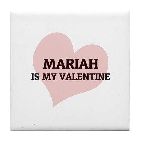 Mariah Is My Valentine Tile Coaster