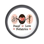 Peace Love Pediatrics D.O. Wall Clock