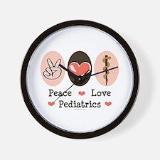 Peace Love Pediatrics D.O. Wall Clock