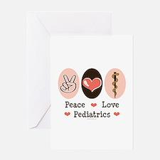 Peace Love Pediatrics D.O. Greeting Card