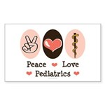 Peace Love Pediatrics D.O. Sticker (Rectangle 50 p