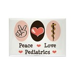 Peace Love Pediatrics D.O. Rectangle Magnet (10 pa