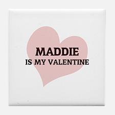 Maddie Is My Valentine Tile Coaster
