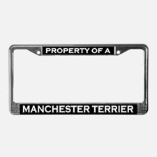 Property of Manchester Terrier License Plate Frame