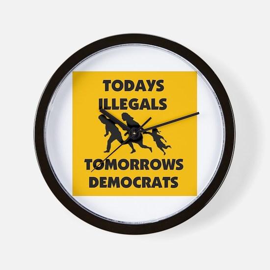 gringo welfare Wall Clock