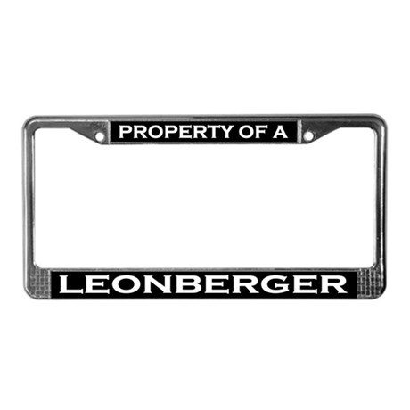 Property of Leonberger License Plate Frame