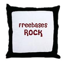 Freebases Rock Throw Pillow
