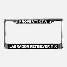 Property of Labrador Retriever License Plate Frame