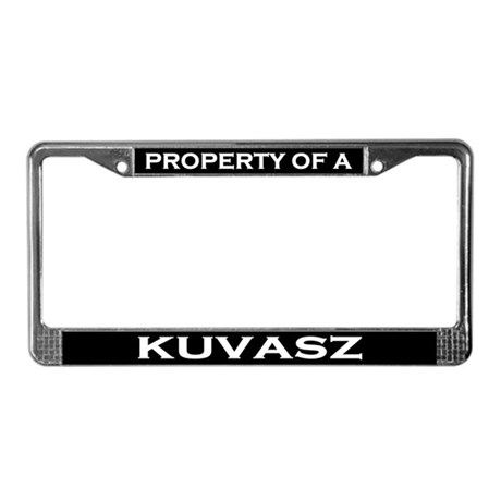 Property of Kuvasz License Plate Frame