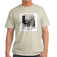 Young & Active Ash Grey T-Shirt