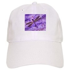 Purple Dragonfly Baseball Cap