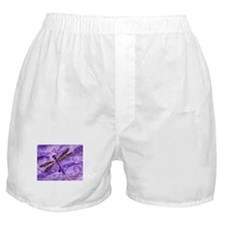 Purple Dragonfly Boxer Shorts