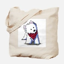 Kissing Bandit Westie Tote Bag