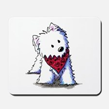 Kissing Bandit Westie Mousepad