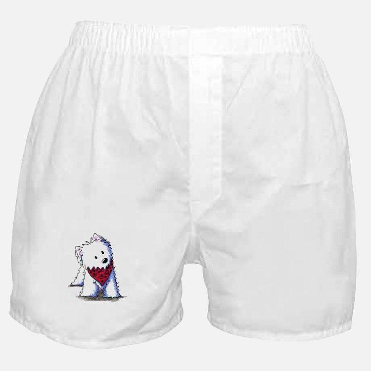 Kissing Bandit Westie Boxer Shorts