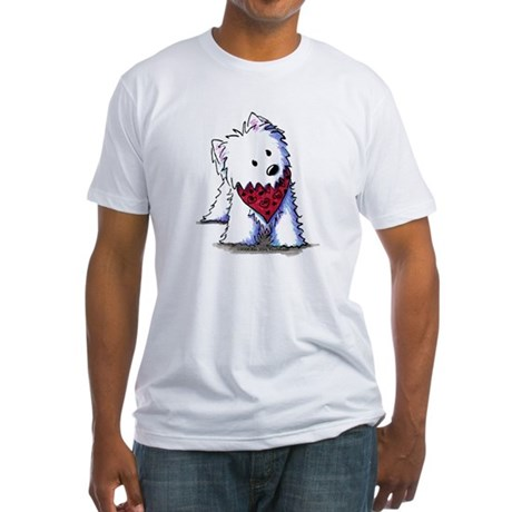 Kissing Bandit Westie Fitted T-Shirt