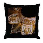 Black and Gold Charro Hat Throw Pillow