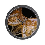 Black and Gold Charro Hat Wall Clock
