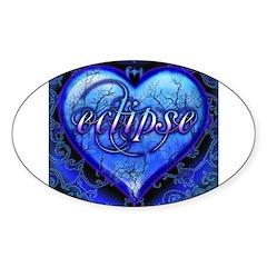 Eclipse Ornate Heart Sticker (Oval 10 pk)