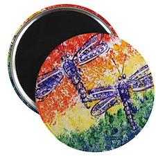 Rainbow Dragonflies Magnet