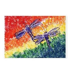 Rainbow Dragonflies Postcards (Package of 8)
