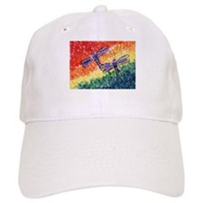 Rainbow Dragonflies Baseball Cap