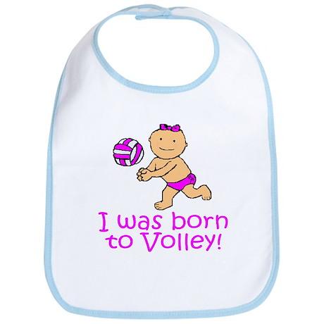 Born to Volley Madison Bib