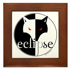 Eclipse Lone Wolf by Twibaby Framed Tile