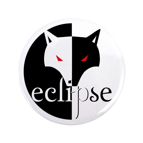 """Eclipse Lone Wolf by Twibaby 3.5"""" Button (100"""