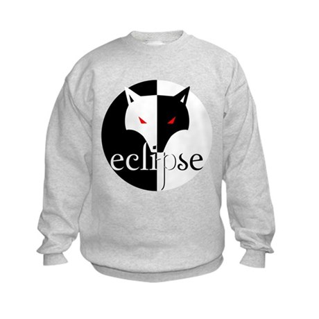 Eclipse Wolf Illusion by Twibaby Kids Sweatshirt