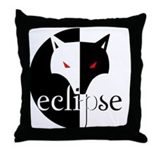 Eclipse Wolf Illusion by Twibaby Throw Pillow