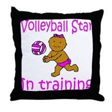 Volleyball Star Hannah Throw Pillow