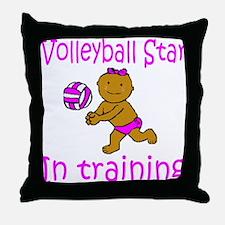 Volleyball Star Hannah Throw Pillow