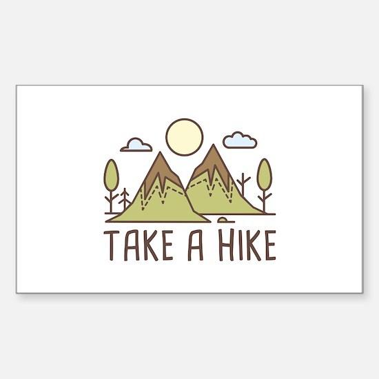 Take A Hike Sticker (Rectangle)