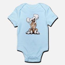 Chinese Crested Sit Pretty Infant Bodysuit
