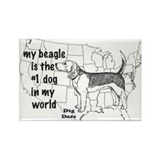 Beagle World Rectangle Magnet